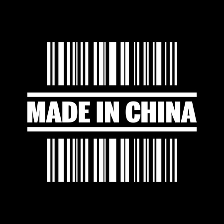 made in china: Vector illustration of single isolated made in China icon Illustration