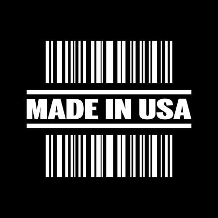 codigos de barra: Ilustración vectorial de un solo aislado hecho en EE.UU. el icono