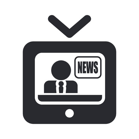 Vector illustration of single isolated news icon Vector