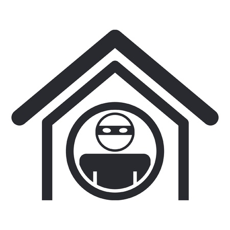 burglars: Vector illustration of single isolated home thief icon Illustration