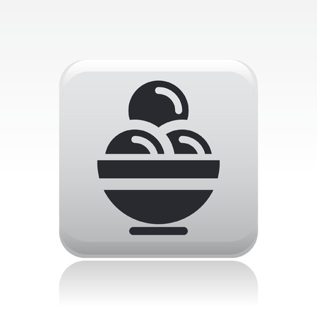 cram: Vector illustration of single isolated ice cram icon