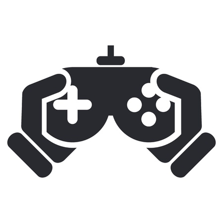 video games: Vector illustration of single isolated video game icon