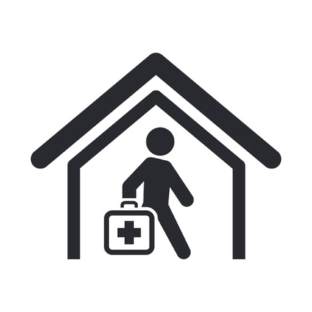 Vector illustration of single isolated medical icon Illustration