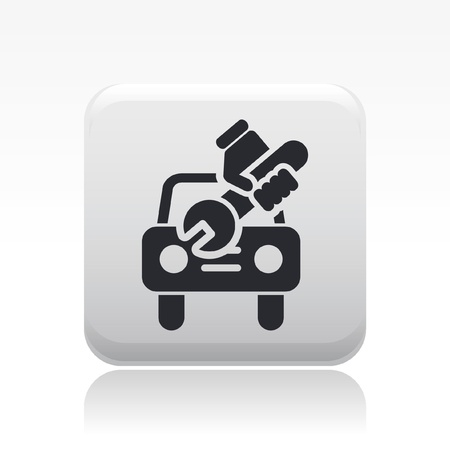 Vector illustration of single isolated car repair icon Stock Vector - 12127551