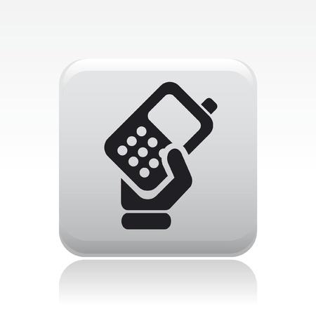 Ilustración vectorial de un icono de teléfono único y aislado Ilustración de vector