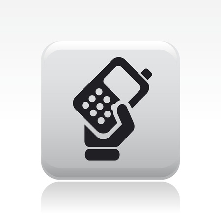 mobile icon: Vector illustration of single isolated phone icon