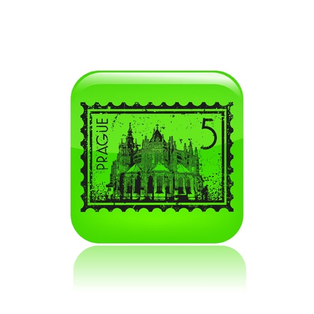 Vector illustration of single isolated Prague icon Vector
