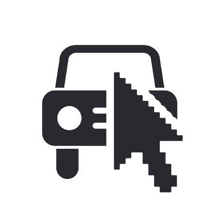 dealership: Vector illustration of single isolated web car icon