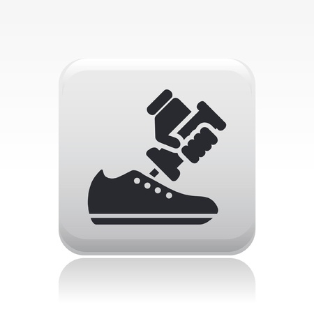 craftsperson: Vector illustration of single isolated shoe repair icon Illustration