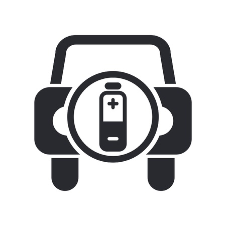 Vector illustration of single isolated car energy icon Vector