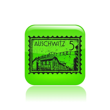 Vector illustration of single isolated auschwitz icon Stock Vector - 12130506