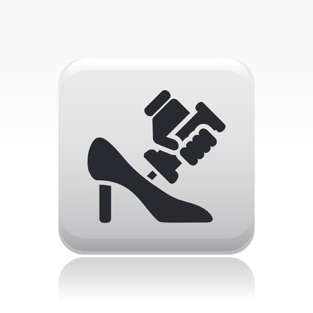 shoe repair: Vector illustration of single isolated shoe repair icon Illustration