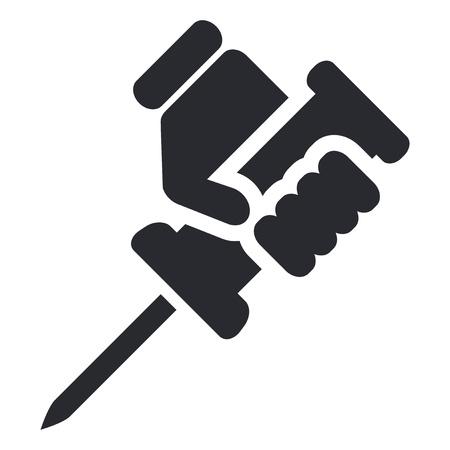 reparations: Ilustraci�n vectorial de icono de una sola reparaci�n aislado