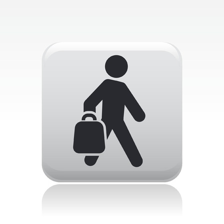 expenditure: Vector illustration of single isolated buy bag icon Illustration