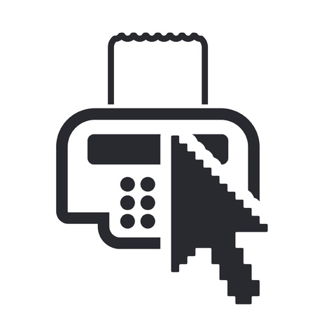 Vector illustration of single isolated cash pointer icon