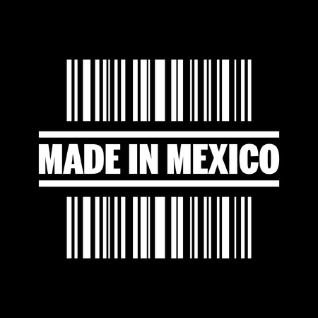 Vektor illustration av enstaka isolerade gjorts i Mexico ikonen