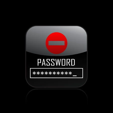 Vector illustration of single isolated password icon Stock Vector - 12127325