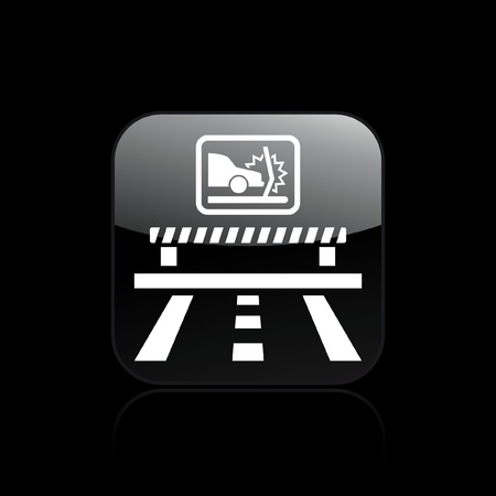 deviation: Vector illustration of single isolated crash car icon