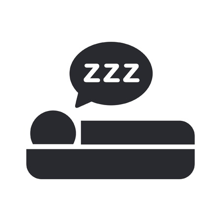 asleep: Vector illustration of single isolated sleep icon