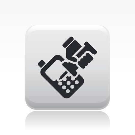 cellulare: Vector illustration of single isolated phone repair icon Illustration