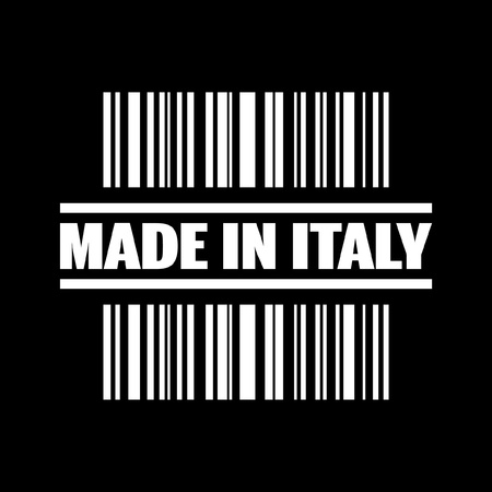 Vector illustration of single isolated made in Italy icon Vector