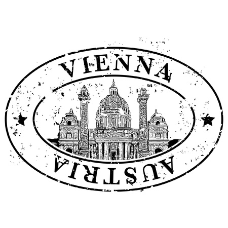 Vector illustration of single isolated Vienna icon Vector