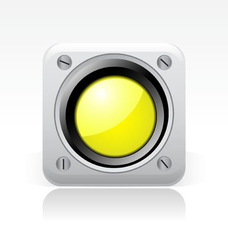 Vector illustration of single isolated yellow traffic light icon Stock Vector - 12127196