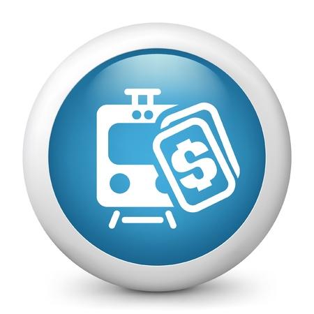 railcar: Vector illustration of train cost concept