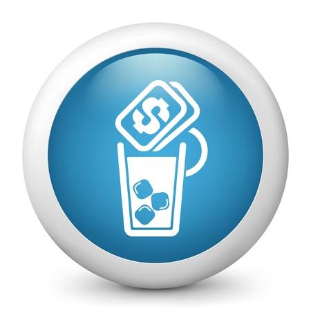 aperitif: Vector illustration of drink price icon  Illustration