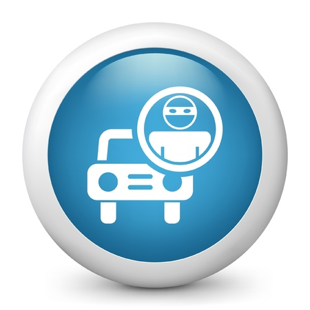 car theft: Ilustraci�n vectorial de icono azul brillante.