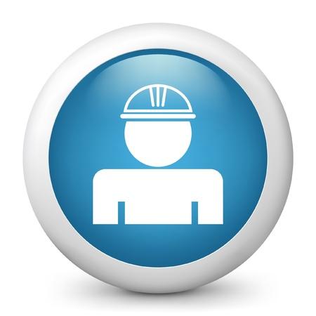 Vector illustration d'icône bleu brillant.