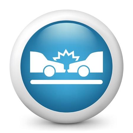 Vektor illustration av blå glansig ikonen. Illustration