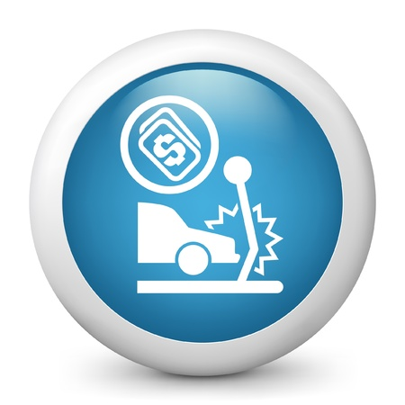 repayment: Vector illustration of blue glossy icon. Illustration