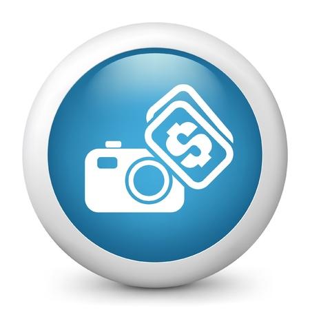 microstock: Vector illustration of blue glossy icon. Illustration
