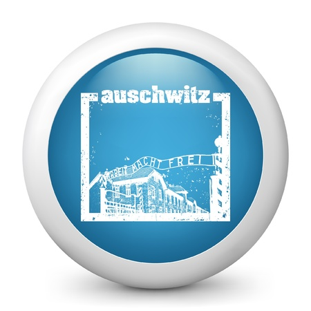 holocaust: Vector illustration of blue glossy icon. Illustration