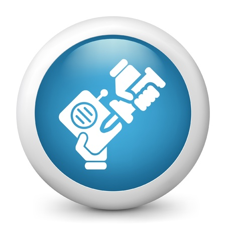 reparations: Vector illustration of blue glossy icon. Illustration