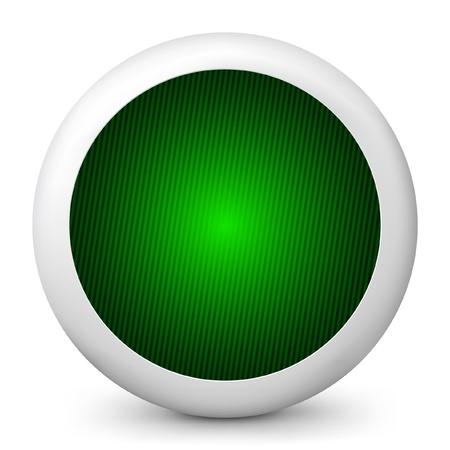 traffic signal: Vector illustration of blue glossy icon. Illustration