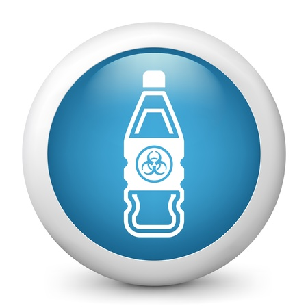Vector illustration of blue glossy icon. Stock Vector - 17735735