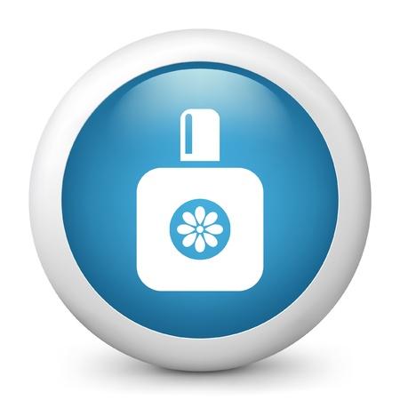 toilette: Vector illustration of blue glossy icon. Illustration
