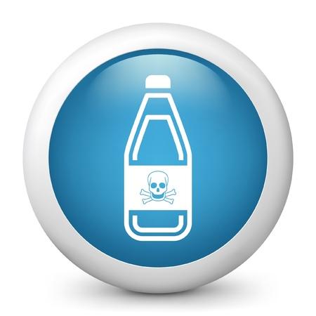 demise: Vector illustration of blue glossy icon. Illustration