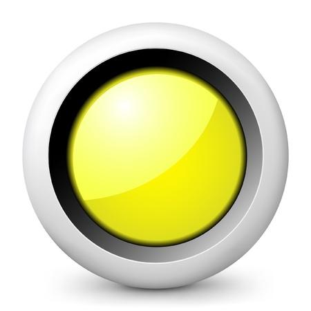 semaphore: Vector illustration of blue glossy icon. Illustration