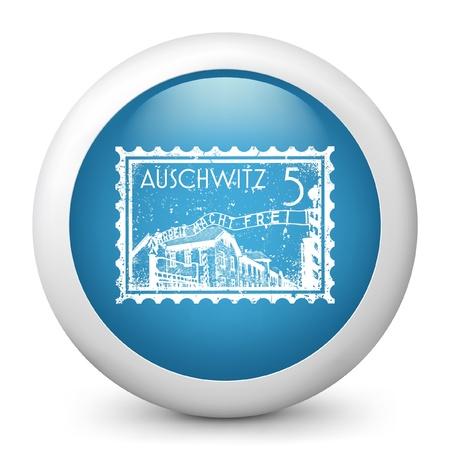 Ilustración vectorial de icono azul brillante.
