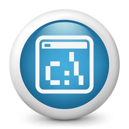 dos: Vector illustration of blue glossy icon. Illustration