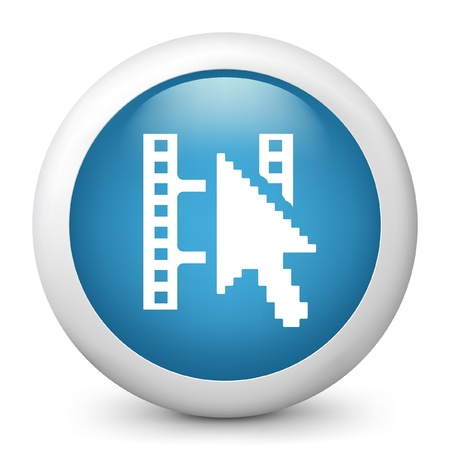clik: Vector illustration of blue glossy icon. Illustration