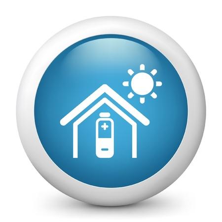 accumulation: Vector illustration of blue glossy icon. Illustration