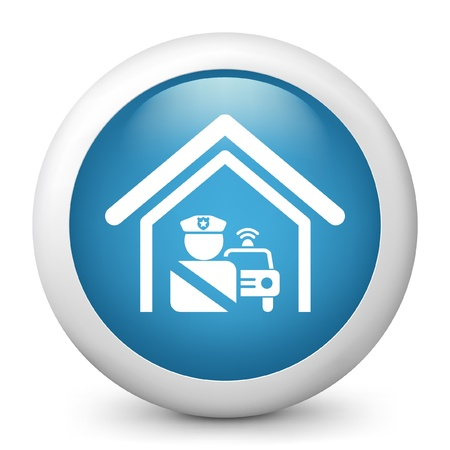 Vector illustration of blue glossy icon. Stock Vector - 17789021