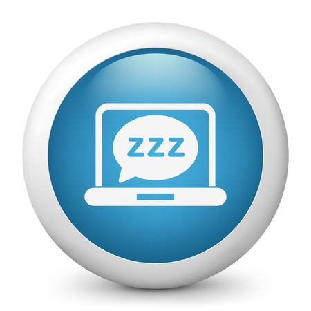 sleeper: Vector illustration of blue glossy icon. Illustration
