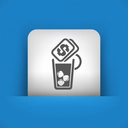 aperitif: Vector illustration of single blue and gray isolated icon.