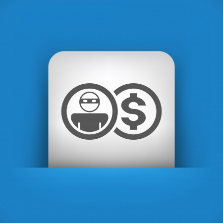 insure: Vector illustration of single blue and gray isolated icon.