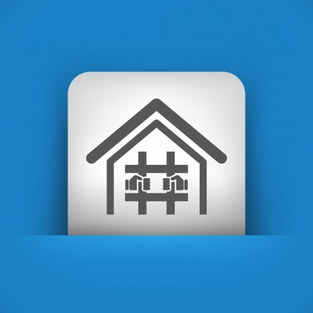 imprisoned: Vector illustration of single blue and gray isolated icon.